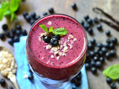 snack and smoothies